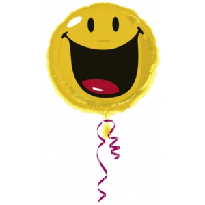 Anagram Ballong i microfolie, smiley