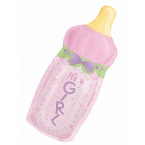 Anagram Ballong i microfolie, Nappflaska, it's a girl