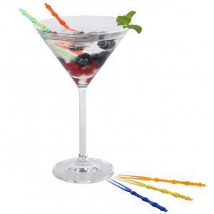 Cocktailgafflar i plast, blandade färger, 20 st