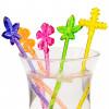 Cocktailgafflar i plast, löv, 6 st
