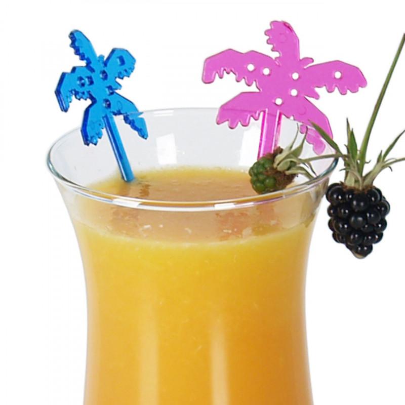 Drinkpinnar i plast, Palm, 100 st