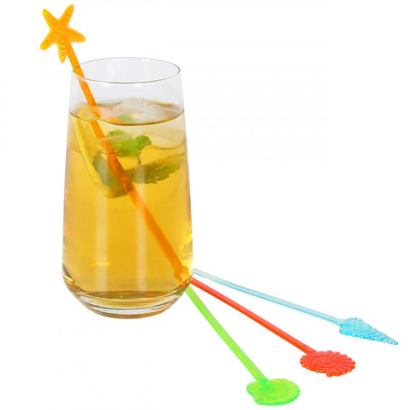Drinkpinnar i plast, Havstema, 100 st