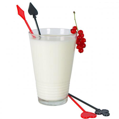 Drinkpinnar i plast, Kortlek, 80 st