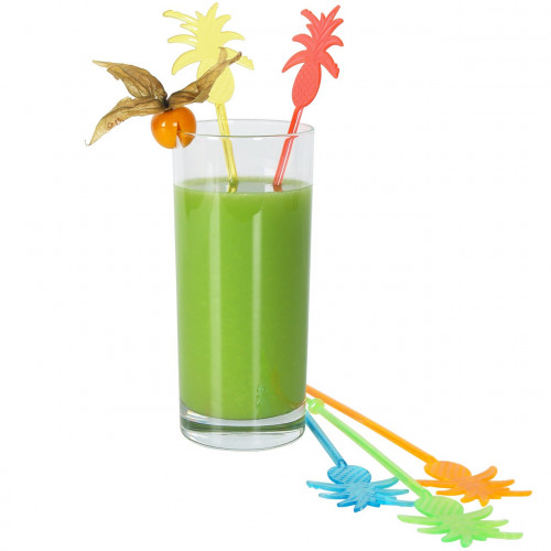 Drinkpinnar i plast, Ananas, 100 st