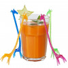 Drinkpinnar i plast, Giraff, 100 st