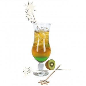 Drinkpinnar i trä, Stjärnor, 20 st