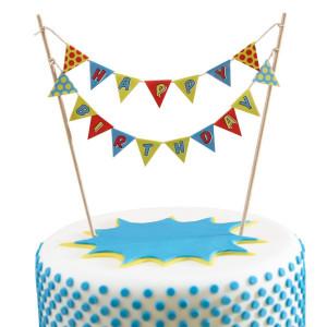 Ginger Ray Cake Topper Flaggor, Superhjälte