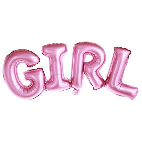 PartyDeco Folieballong Girl, rosa