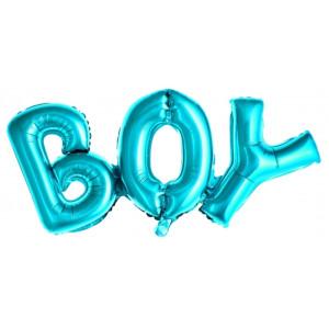 PartyDeco Folieballong Boy, blå