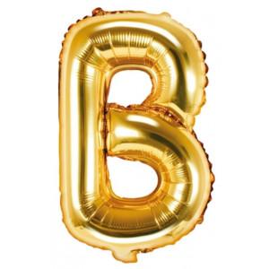 PartyDeco Bokstavsballong B, 35 cm i guld