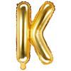 PartyDeco Bokstavsballong K, guld