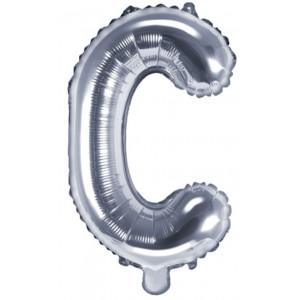 PartyDeco Bokstavsballong C, silver