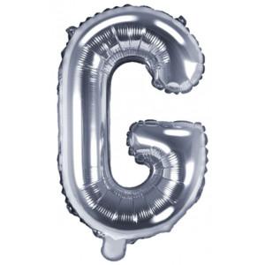 PartyDeco Bokstavsballong G, silver