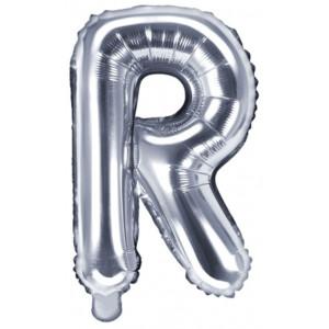 PartyDeco Bokstavsballong R, silver