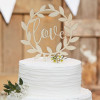 Ginger Ray Cake Topper i trä, Love, blad