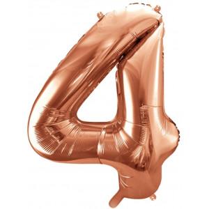 PartyDeco Sifferballong 4, roséguld, 86 cm