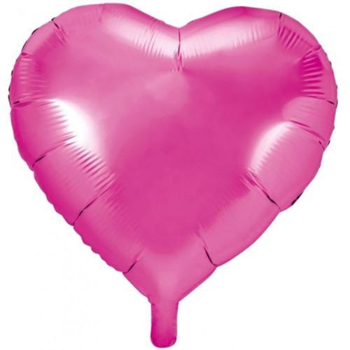 PartyDeco Folieballong Hjärta, rosa