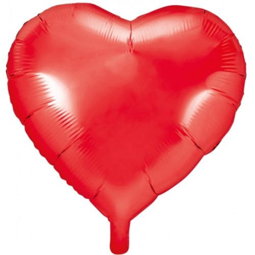 PartyDeco Folieballong Hjärta, röd