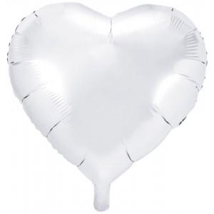 PartyDeco Folieballong Hjärta, vit
