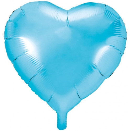 PartyDeco Folieballong Hjärta, blå