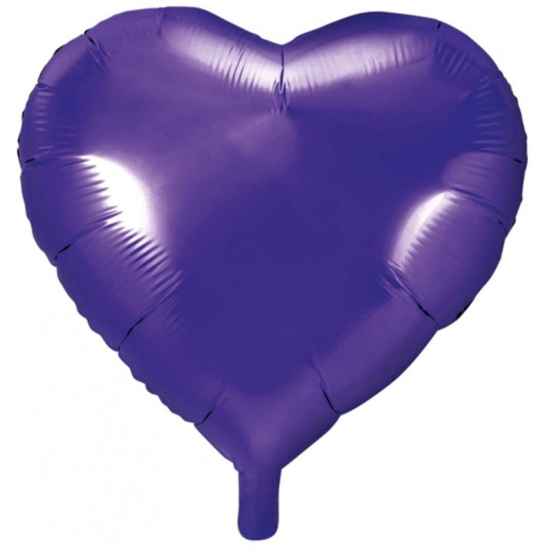 PartyDeco Folieballong Hjärta, lila