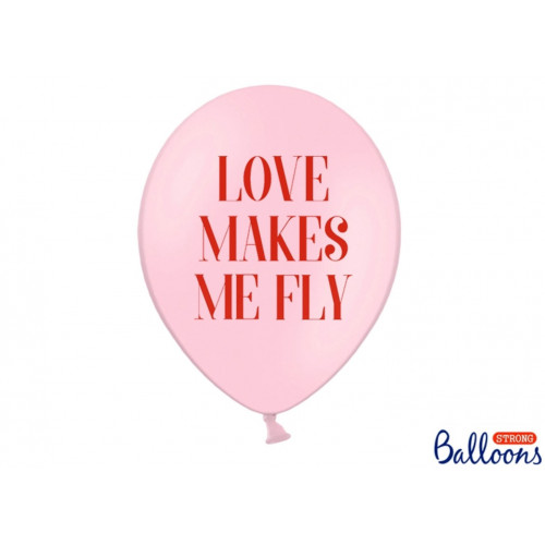 PartyDeco Ballonger Love Makes Me Fly, rosa