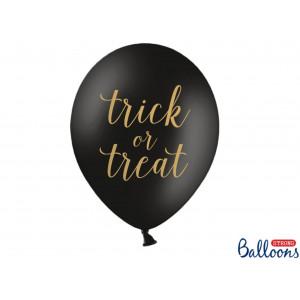PartyDeco Ballonger Trick or Treat, svart