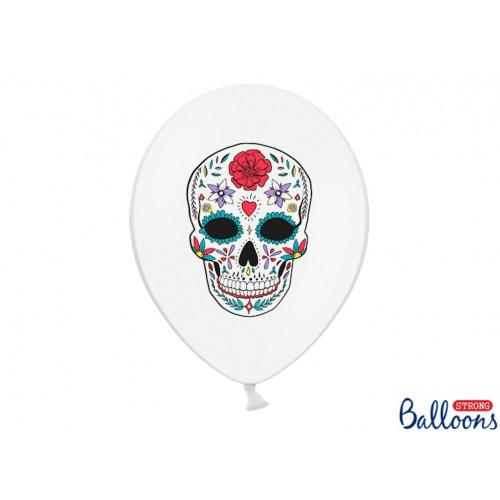 PartyDeco Ballonger Dia de los Muertos, vit