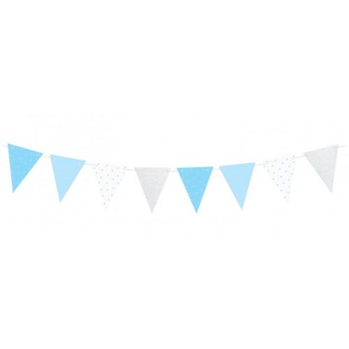 PartyDeco Flaggspel Vimplar, blå
