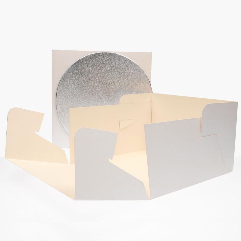 FunCakes Tårtkartong med rund bricka, 30,5 cm