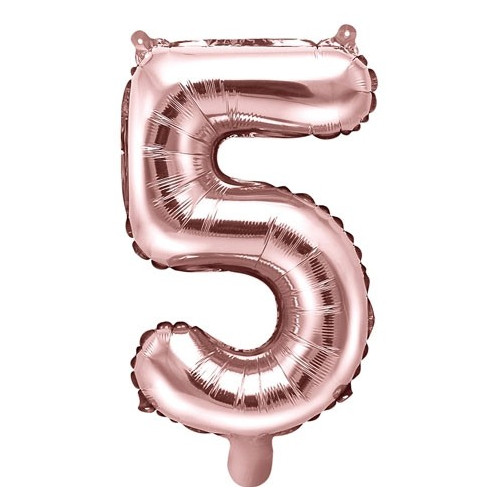 PartyDeco Sifferballong 4, roséguld, 35 cm