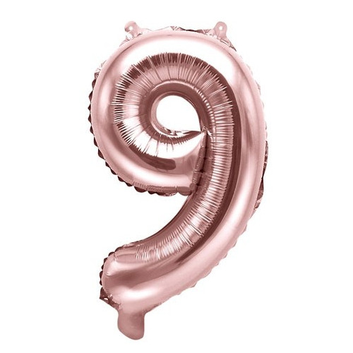 PartyDeco Sifferballong 8, roséguld, 35 cm