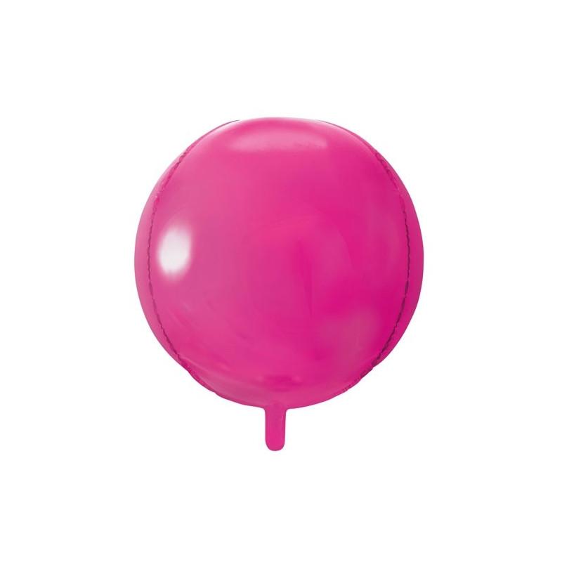 PartyDeco Folieballong Rund, rosa
