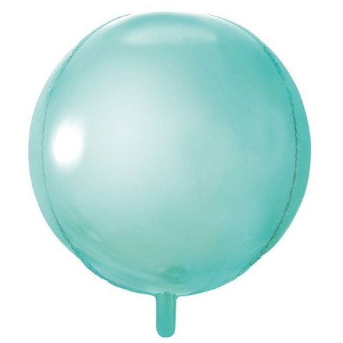 PartyDeco Folieballong Rund, mint