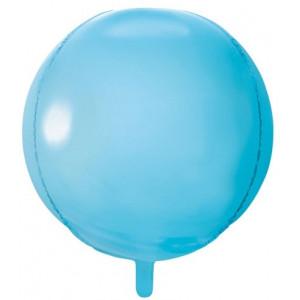 PartyDeco Folieballong Rund, ljusblå
