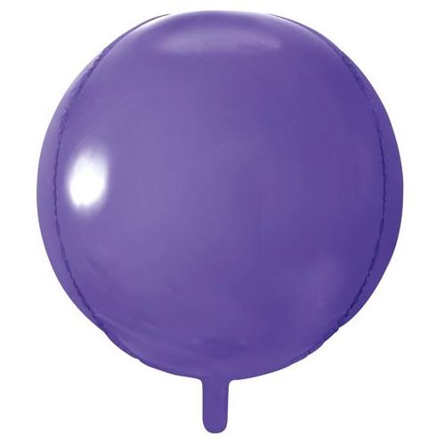 PartyDeco Folieballong Rund, lila