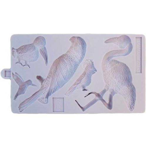 Karen Davies Silikonform Tropiska Fåglar
