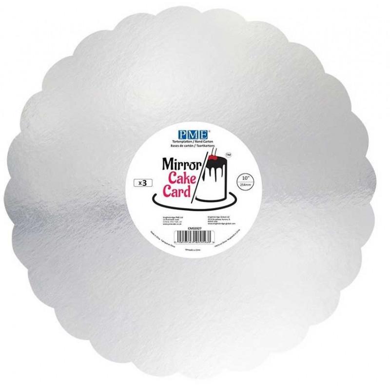 PME Tårtbricka Silver 3 pack, 25,4 cm