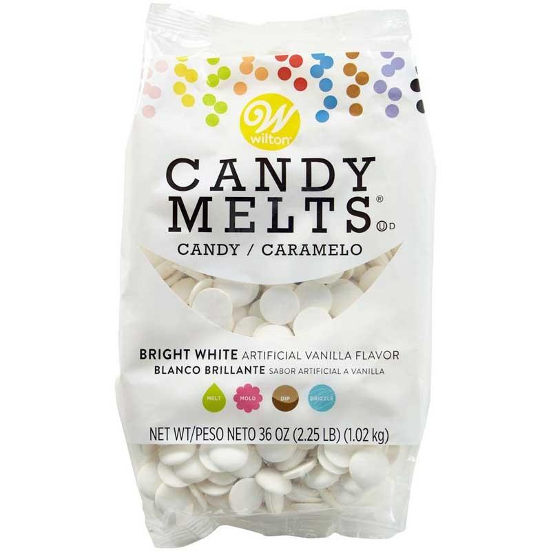 Wilton Candy Melts Vit, vanilj, 1 kg