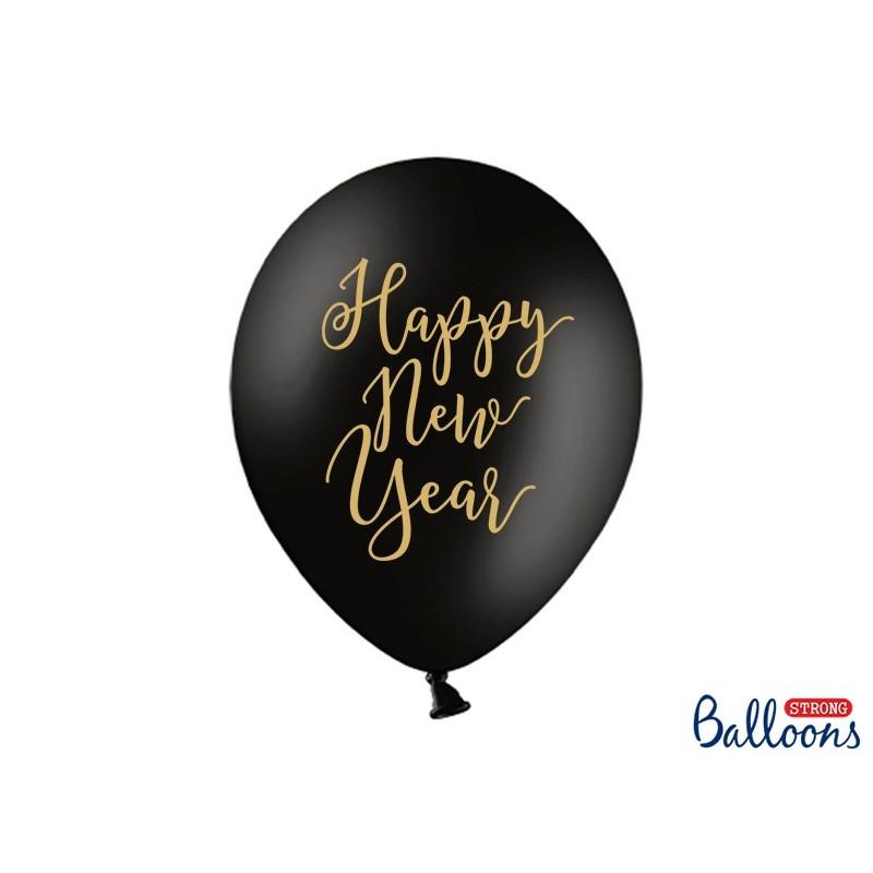 PartyDeco Ballonger Happy New Year skrivstil