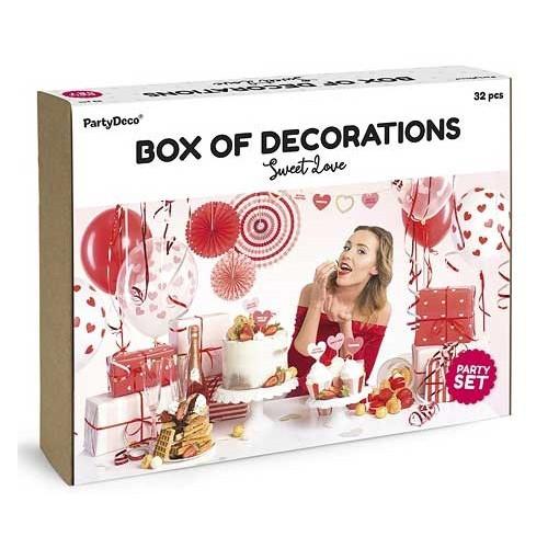 PartyDeco Dekorationsset, Sweet Love