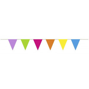 PartyDeco Flaggspel Vimplar, mixade färger