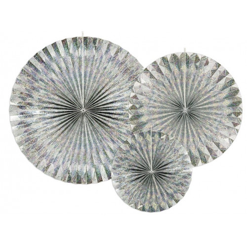 PartyDeco Pappersfjäder, Silver