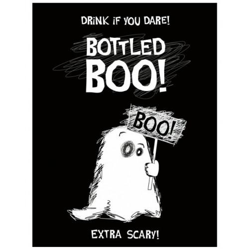 PartyDeco Etikett för flaskor, Boo!