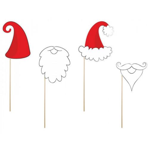 Party Deco props på pinne, Jultomte och dvärg