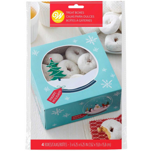 Wilton Treat Boxes, julmotiv, 4-pack
