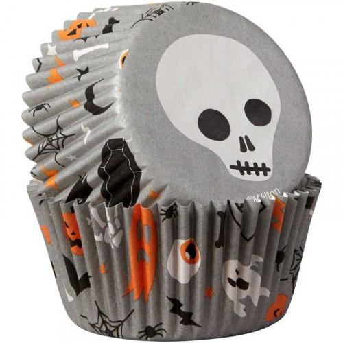 Wilton Muffinsform Skulls