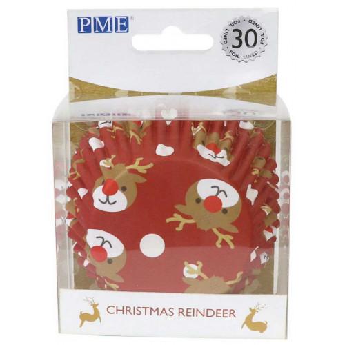PME Muffinsform Christmas Reindeer 30 st