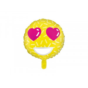 PartyDeco Folieballong Emoji Love