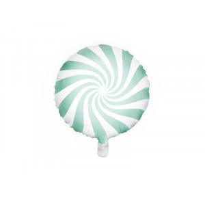 PartyDeco Folieballong Candy, Mint
